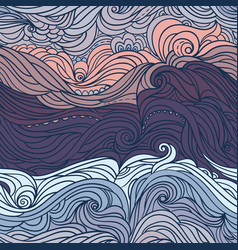 ocean waves purple vector image