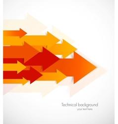 Orange arrows vector image
