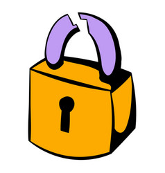 Padlock icon icon cartoon vector