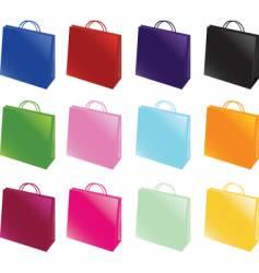 paper bag set vector image
