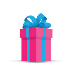 pink present gift vector image