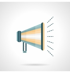 Promotion megaphone flat color icon vector image