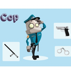 Robot cop vector