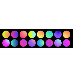rounded holographic gradient sphere multicolor vector image