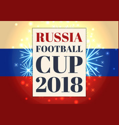 Russia football cup poster tricolor flag vector