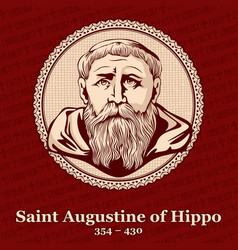 Saint augustine of hippo was a roman african vector