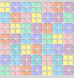 seamless abstract geometric leaf pastel pattern vector image