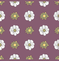 Seamless texture with a pattern of summer vector