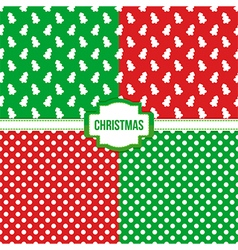 Set collection of christmas seamless patterns vector image vector image