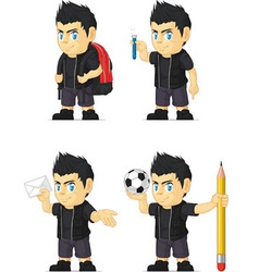 Spiky Rocker Boy Customizable Mascot 8 vector image