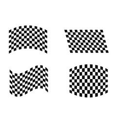 sport flags set three vector image