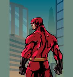 superhero back no cape city vector image