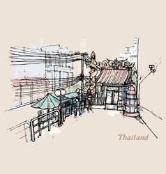 thailand in watercolor style watercolor vector image