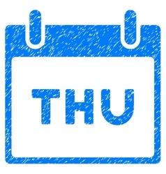 Thursday Calendar Page Grainy Texture Icon vector