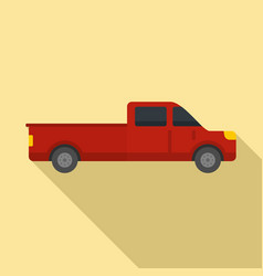 Travel pickup icon flat style vector