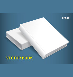 two hardcover books vector image