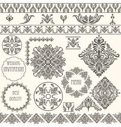 vintage design elements retro vector image