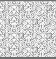 Vintage lace fabric texture seamless pattern vector