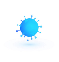 virus 3d blue bacteria vector image