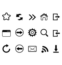 Web browser tools icon vector