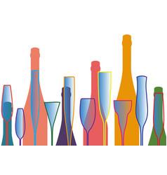Wineglass background vector