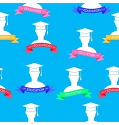 with education elements pattern vector image