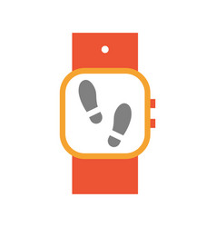 wristwatch with display steps vector image