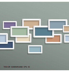 3d geometric background in retro colors vector image vector image