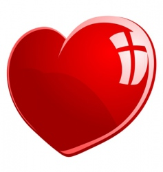 glossy heart vector image vector image