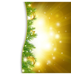 Gold New Year Card vector image vector image