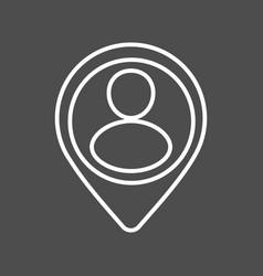 location icon line vector image vector image