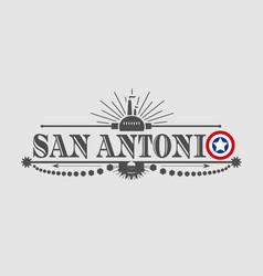 san antonio city name vector image