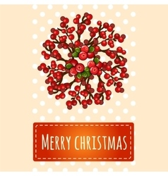 Simple bright Christmas card with greetings vector image vector image