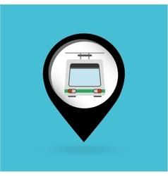 trolley car icon vector image