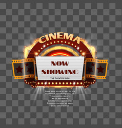 vintage cinema sign isolated vector image vector image