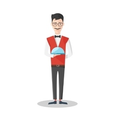 Waiter Emotions Icon vector image