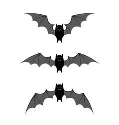 Bat flying cycle for animation vector image