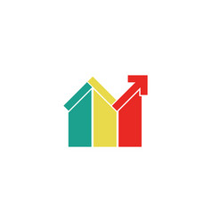 colored realty home logo vector image