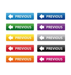 Previous buttons vector image vector image