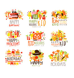 happy child holiday colorful graphic design vector image vector image