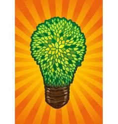 Incandescent eco lamp vector