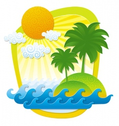 tropical islands vector image
