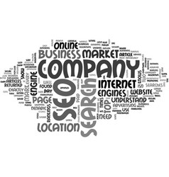 why an seo company text word cloud concept vector image
