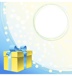 frame for greeting or invitation for holiday vector image