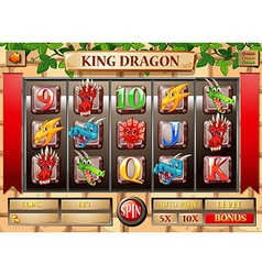 Game template with dragon theme vector