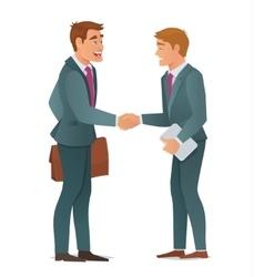 Handshake business men vector image vector image