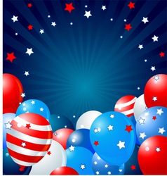 Patriotic balloons border vector image vector image