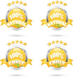 100 fruit vector image