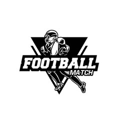 american football match badge symbol black vector image
