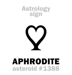 astrology asteroid aphrodite vector image